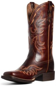 Ariat Ladies Round Up Flutter Mahogany Square Toe Boots