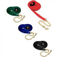 25' Poly Web Lunge Line with Brass Chain
