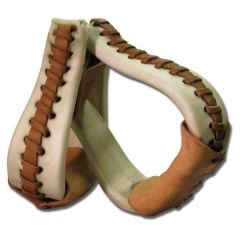 """3"""" Bell Stirrup Laced Rawhide"""