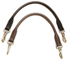 Tory Leather Rolled Grab Strap with Snaps