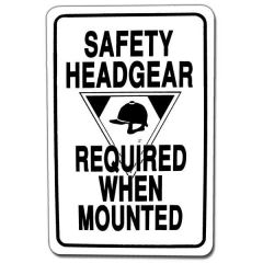 Safety Headgear Required Sign