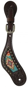Circle Y Spur Straps with Bead Inlay