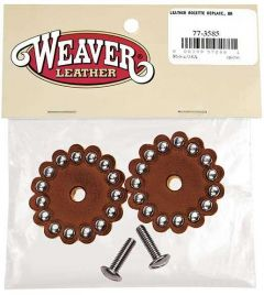 Replacement Leather Rosettes, Rich Brown