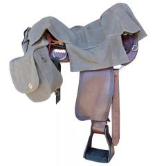 Waxwear saddle Bag System with Rain Cover