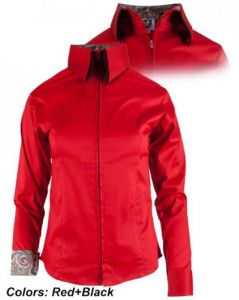 Double Collar Zip Red With Black Show Shirt