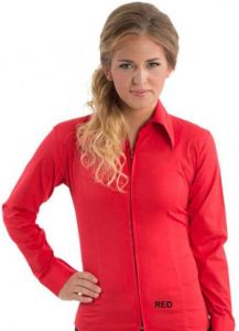 Zip Up Fitted Show Shirt - Red