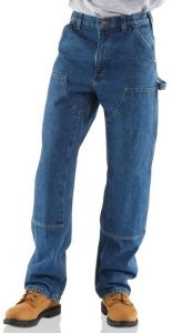Loose / Original Fit Washed Logger Double Front Work Jean - Darkstone