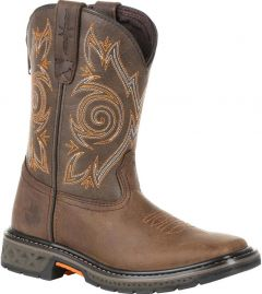 Georgia Boot Carbo-Tec LT Big Kids Brown Pull-On Boots