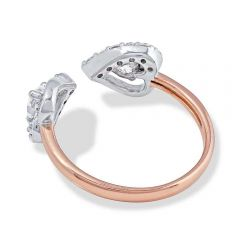 Love Points To You Open Heart Ring