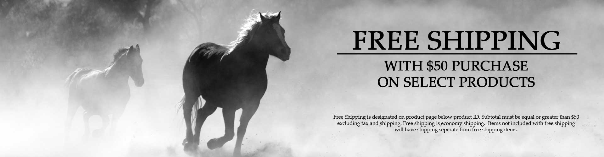 Free Shipping With $50 Purchase